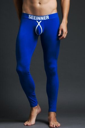 PROMO! Kalesony męskie SEEINNER BULGE Blue