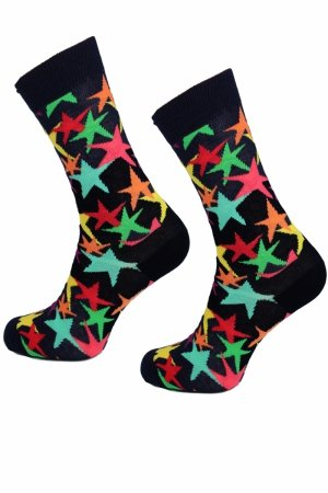 Skarpety Supa! Sox! Black Stars (AM0051)