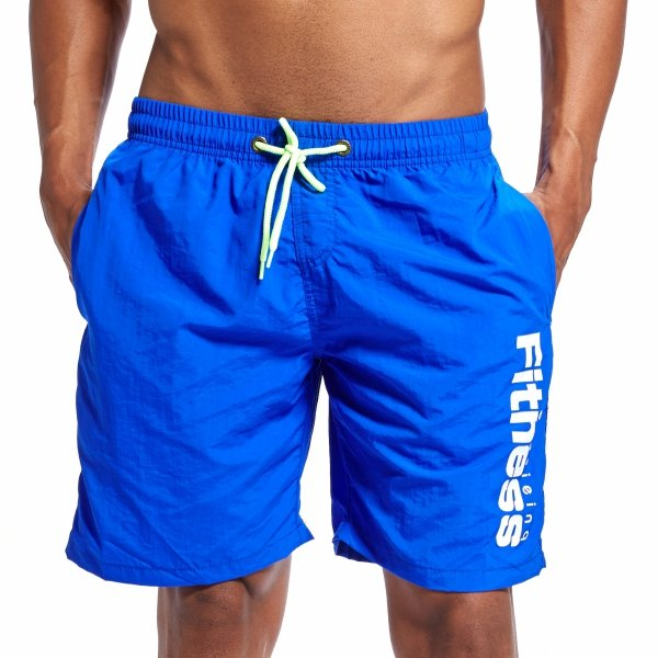 EUSSIEINQ Fitness Blue Swimming Trunks