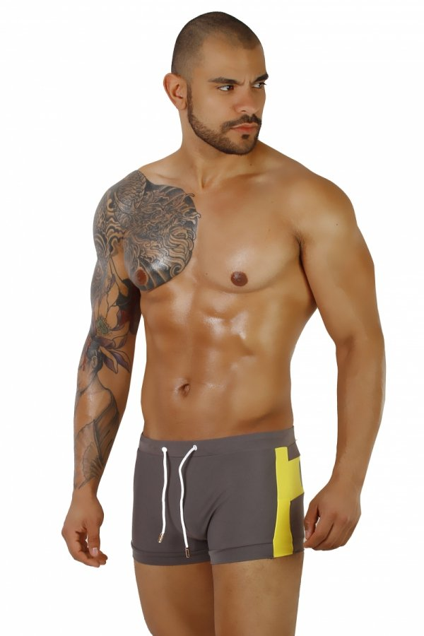 Supa! Swim! Cross Grey Swimwear