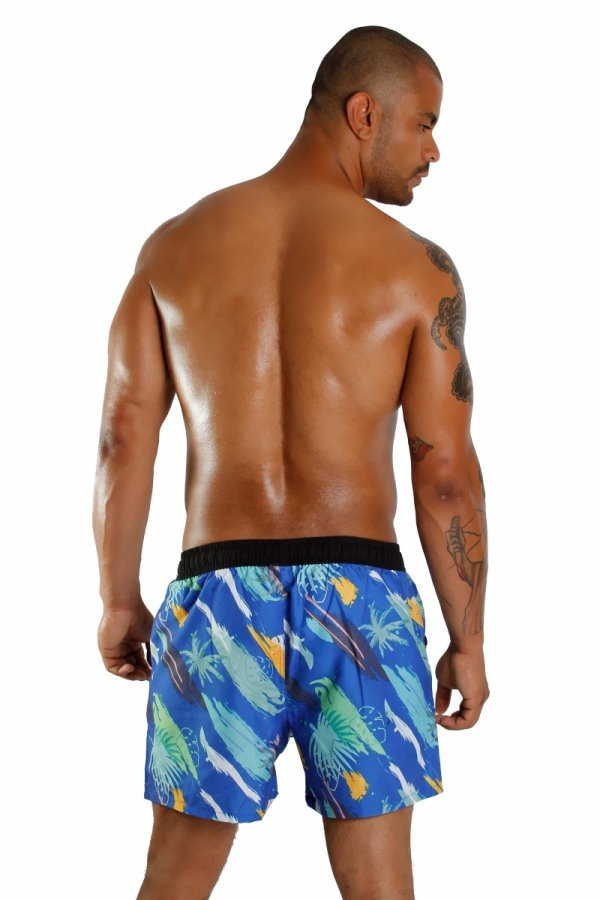 Supa! Swim! Bermuda Trunks (Blue)