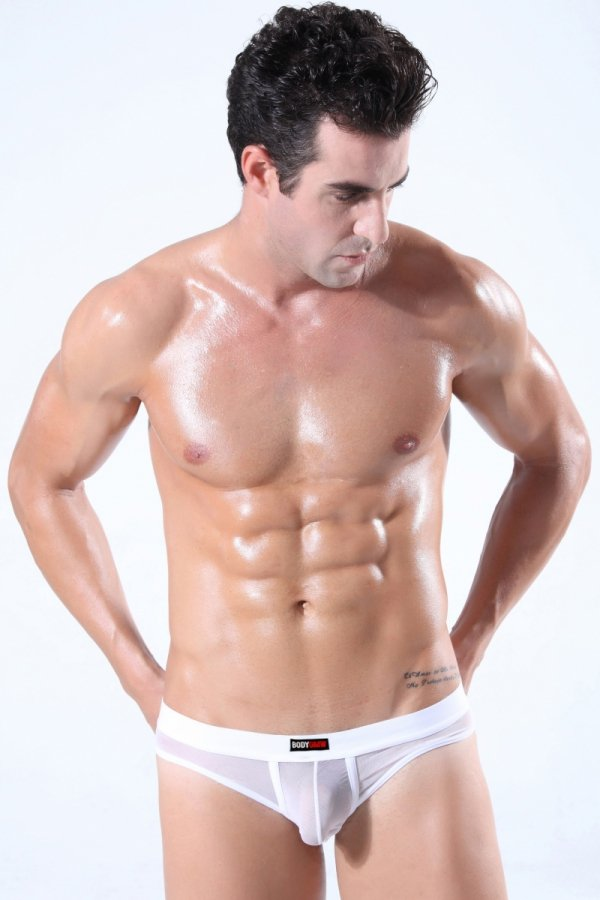 Stringi męskie BODY GMW Ultra Mesh White