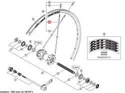 Szprycha Shimano 268mm do WH-MT55-F/R