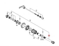 Oś piasty tył Shimano FH-M770/775/970/M785/WHM785