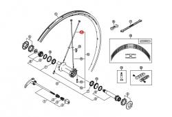Szprycha Shimano 278mm z podkładką do WH7801-F carbon