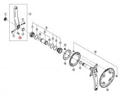 Podkładka zabezpieczająca Shimano FC-M770/M582/M580/M532