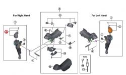 Kapa dźwigni Shimano 105 ST-5800 prawa ze śrubą