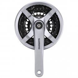 Mechanizm korbowy Shimano Tourney FC-TY501 48/38/28T 170mm srebrny