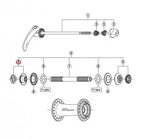 Stożek lewy/prawy piasty Shimano HB-6700