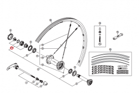 Stożek piasty przód Shimano WH-6800-F lewy