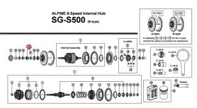 Stożek piasty tył Shimano SG-S500 lewy