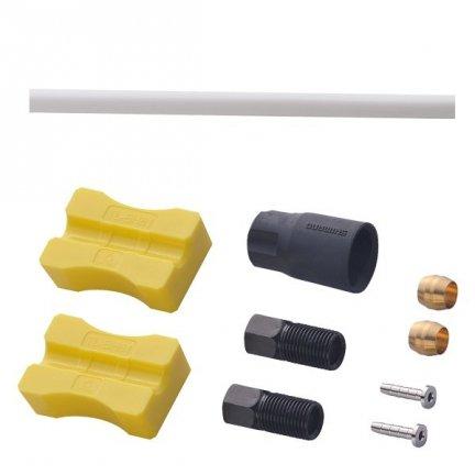 Przewód hamulca hydraulicznego Shimano SM-BH90-SS przód 1000mm biały