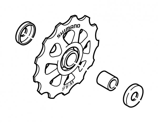 Kółka przerzutki Shimano do RD-TX35 górne i dolne