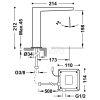 TRES - Bateria SLIM COLORS Bezdotykowa Elektroniczna jednostrumieniowa bateria umywalkowa czarna/ black 20261301.NM