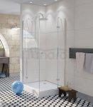 SKIENDI - Kabina kwadratowa z podwójnymi drzwiami uchylnymi ROMA KDK