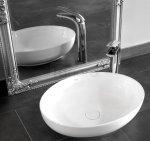 REA - Umywalka ceramiczna nablatowa CAROLA Slim