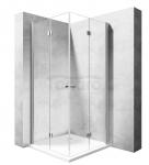 REA - Kabina prysznicowa MODUŁ FOLD kwadratowa podwójne drzwi składane 110x110