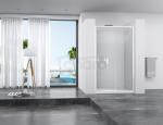 REA - Drzwi prysznicowe SLIDE PRO 130cm transparent przesuwne