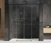 NEW TRENDY - Drzwi wnękowe prysznicowe przesuwne PRIME BLACK 130-230 cm