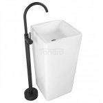 REA Zestaw KOMPLET umywalka wolnostojąca VIKI z baterią stojącą ORTIS BLACK