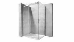 REA - Kabina NIXON - 2 prostokątna EASY CLEAN PREMIUM / drzwi 150 + ścianka 90 /