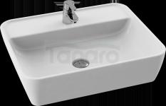 CeraStyle Umywalka ceramiczna z otworem na baterię ONE 55x45cm