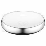 INVENA - Umywalka nablatowa FRESCO 59cm owalna biały/chrom  CE-31-001-W