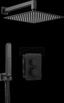 DEANTE - Zestaw BOX Nero/Czarny podtynkowy termostatyczny zaokrąglony  BXYZNECT