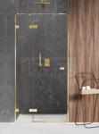 NEW TRENDY Drzwi prysznicowe wnękowe AVEXA GOLD SHINE Linia Platinium 130x200cm