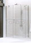 New Trendy - Kabina prysznicowa asymetryczna pojedyncze drzwi NEW MERANA / Linia Gold