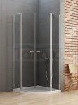 New Trendy - Kabina prysznicowa półokrągła podwójne drzwi uchylne NEW SOLEO / Linia Gold