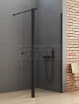 NEW TRENDY Kabina ścianka prysznicowa z ruchomymi drzwiami NEW SOLEO BLACK linia gold 110x34x195 K-0785