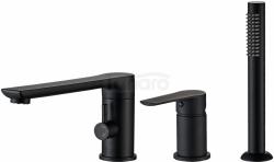 REA -  Bateria wannowa DEX Black/Czarna trzyczęściowa