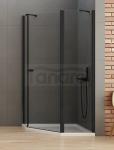 NEW TRENDY Kabina prysznicowa pięciokątna NEW SOLEO BLACK 100x80x195 K-0615
