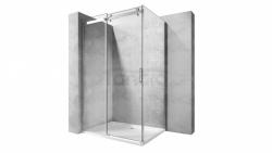 REA - Kabina NIXON - 2 prostokątna EASY CLEAN PREMIUM / drzwi 100 + ścianka 100 /