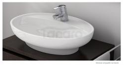 CeraStyle - Umywalka ceramiczna nablatowa / wpuszczana w blat LAL 60 OWALNA