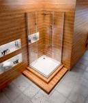 REA - Kabina prysznicowa kwadratowa FOLD N NEW 80x80 powłoka Easy Clean