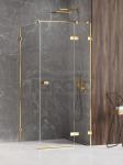NEW TRENDY Kabina prysznicowa AVEXA GOLD SHINE Linia Platinium 80x90x200