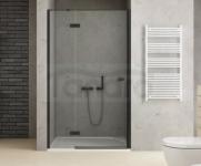NEW TRENDY Drzwi wnękowe prysznicowe REFLEXA BLACK 100x200 EXK-1324 POLSKA PRODUKCJA
