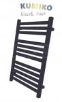 GAMABIK - Grzejnik łazienkowy KUMIKO 1150/540 CZARNY MAT moc 517W