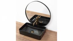 REA Umywalka nablatowa ceramiczna AVIA BLACK MAT