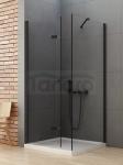 NEW TRENDY Kabina prysznicowa składana NEW SOLEO BLACK 80x120x195
