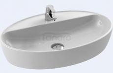 CeraStyle - Umywalka ceramiczna nablatowa ONE OWALNA z otworem na baterię