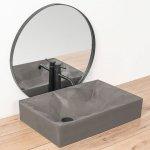 REA - Umywalka nablatowa ROCK szara 60 cm