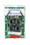 ARMATURA KRAKÓW - Komplet korków redukcyjnych do grzejnika G500F antracyt/grafit 878-200-61