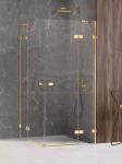 NEW TRENDY Kabina prysznicowa podwójne drzwi uchylne AVEXA GOLD SHINE Linia Platinium 120x120x200 EXK-1707