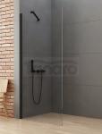 NEW TRENDY Kabina ścianka prysznicowa walk-in 120x195 wspornik skośny profil czarny K-0772