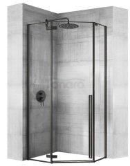 REA - Kabina prysznicowa narożna DIAMOND BLACK MAT 100x100