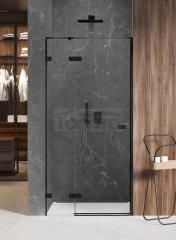NEW TRENDY - Drzwi wnękowe prysznicowe AVEXA BLACK 110cm EXK-1552/53