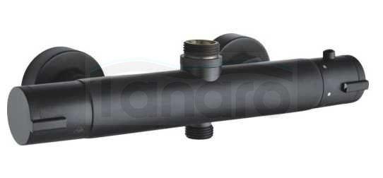 BW TECH - Zestaw natryskowy LUNA z baterią termostatyczną CZARNY MAT